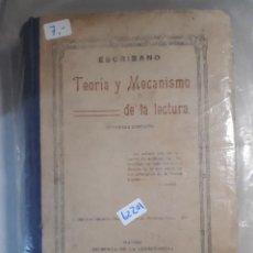 Libros: TEORIA Y MECANISMO DE LA LECTURA . Lote 151072498