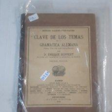 Libros: CLAVE DE LOS TEMAS DE LA GRAMATICA ALEMANA. Lote 151079686