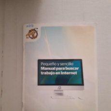 Libros: MANUAL PARA BUSCAR TRABAJO EN INTERNET . Lote 152274742