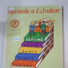 Libros: APRENDO A ESTUDIAR Nº7. Lote 153435370