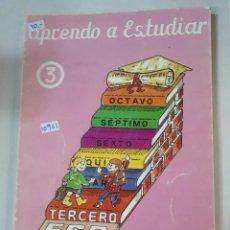 Libros: APRENDO A ESTUDIAR Nº3. Lote 153435482