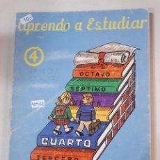 Libros: APRENDO A ESTUDIAR Nº4. Lote 153435542