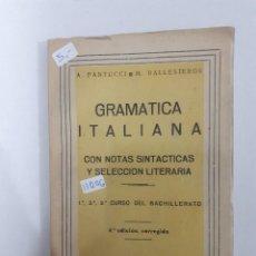 Livres: GRAMATICA ITALIANA. Lote 153617522