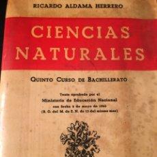 Libros: CIENCIAS NATURALES QUINTO CURSO DE BACHILLERATO. Lote 156006189