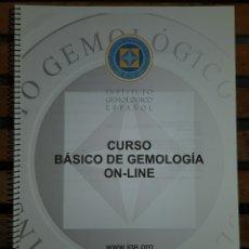Libros: CUADERNO IMPRESO DE CURSO BÁSICO IGE GEMOLOGIA ONLINE. Lote 156257040