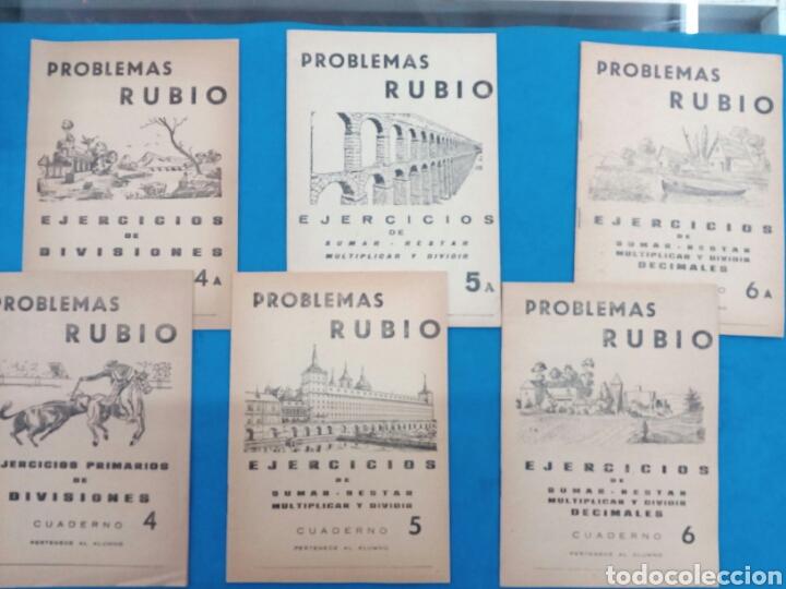 LOTE DE 6 CUADERNILLOS RUBIO 4-4A , 5-5A , 6-6A , VALENCIA AÑOS 1960-70 (Libros Nuevos - Educación - Aprendizaje)