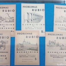Libros: LOTE DE 6 CUADERNILLOS RUBIO 4-4A , 5-5A , 6-6A , VALENCIA AÑOS 1960-70. Lote 156486866