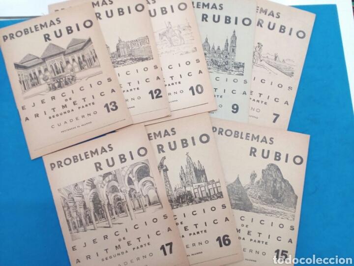 LOTE 8 CUADERNILLOS RUBIO 7,9,10,12,13,15,16,17, VALENCIA AÑOS 1960-70 (Libros Nuevos - Educación - Aprendizaje)