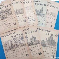 Libros: LOTE 8 CUADERNILLOS RUBIO 7,9,10,12,13,15,16,17, VALENCIA AÑOS 1960-70. Lote 156490580
