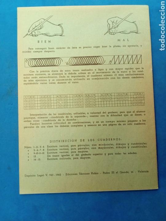 Libros: Cuadernillo Rubio , Ejercicios de trazos , Valencia años 1960-70 - Foto 2 - 156493018