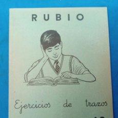 Libros: CUADERNILLO RUBIO , EJERCICIOS DE TRAZOS , VALENCIA AÑOS 1960-70. Lote 156493018