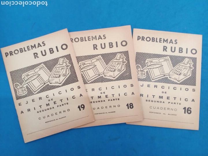 LOTE DE 3 CUADERNILLOS DE DE ARITMÉTICA ,RUBIO , VALENCIA 1960-70 (Libros Nuevos - Educación - Aprendizaje)