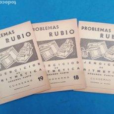 Libros: LOTE DE 3 CUADERNILLOS DE DE ARITMÉTICA ,RUBIO , VALENCIA 1960-70. Lote 156493289