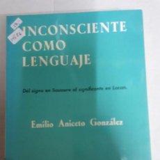 Libros: 14526 - INCONSCIENTE COMO LENGUAJE. Lote 159322302