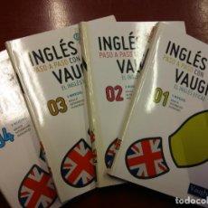 Libros: BJS.INGLES PASO A PASO CON VAUGHAN.4 TOMOS.EDT, CASASUS.BRUMART TU LIBRERIA.. Lote 159327706