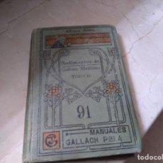 Libros: RUDIMENTOS DE CULTURA MARÍTIMA DE ALFONSO ARNAU CON SELLO Y DEDICATORIA CORBETA NAUTILUS 1927. Lote 162365782