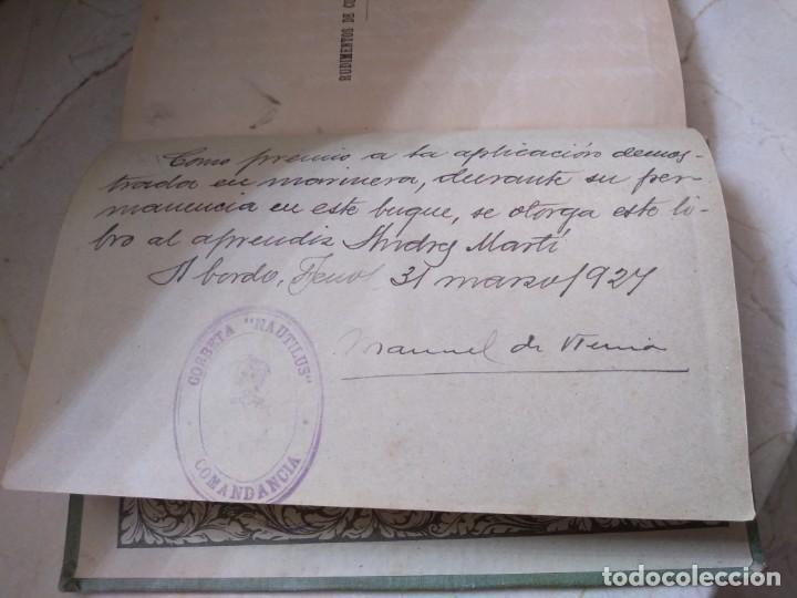 Libros: Rudimentos de cultura marítima de Alfonso Arnau con sello y dedicatoria Corbeta Nautilus 1927 - Foto 3 - 162365782