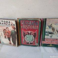 Libros: LOTE DE 3 LIBROS DE COLEGIO AÑOS 40. Lote 162455813