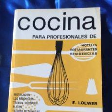 Libros: COCINA PARA PROFESIONALES DE HOTELES RESTAURANTES Y RESIDENCIAS. Lote 167778385