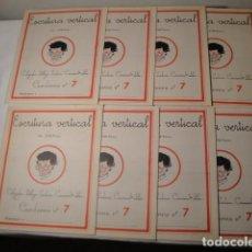 Libros: 8 CUADERNOS ESCRITURA VERTICAL. CUADERNOS Nº 7 IGUALES. AÑO 1958. J.Mª TORAL. NUEVOS.. Lote 171359113
