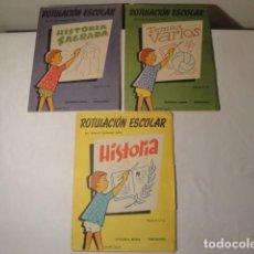 Libros: 3 CUADERNOS ROTULACIÓN ESCOLAR, SERIE A Nº 8-10 Y 11. AÑO 1960. D.ANTONIO CARBONELL SOLER. Lote 171361020