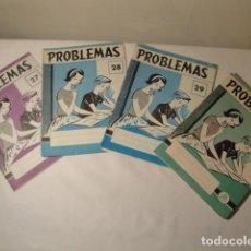 Libros: 16 CUADERNOS PROBLEMAS, Nº 27(1),Nº 28(2),Nº 29(5) Y Nº 30(8). EDELVIVES. AÑOS 1958-59. COMO NUEVOS.. Lote 171505459