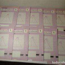Libros: 10 CUADERNOS DE SISTEMA DE ESCRITURA. CUADERNO Nº 1. EDELVIVES. AÑO 1958-59. NUEVOS.. Lote 171508368