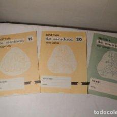 Libros: 3 CUADERNOS DE SISTEMA DE ESCRITURA. CUADERNO Nº 15(1) Y 20 (2). EDELVIVES. NUEVOS.. Lote 171512555