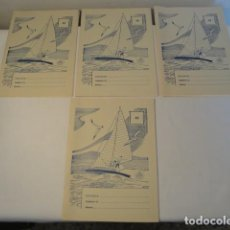 Libros: 4 CUADERNOS CUADRÍCULA PARA ESCRITURA, Nº 45. EDELVIVES. AÑOS 1959-60. NUEVOS.. Lote 171600878