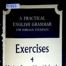 Livres: 23749 - A PRACTICAL ENGLISH GRAMMAR - EXERCICES 4 VERB + PREPOSITION/ADVERB COMBINATIONS - EN INGLES. Lote 171851480