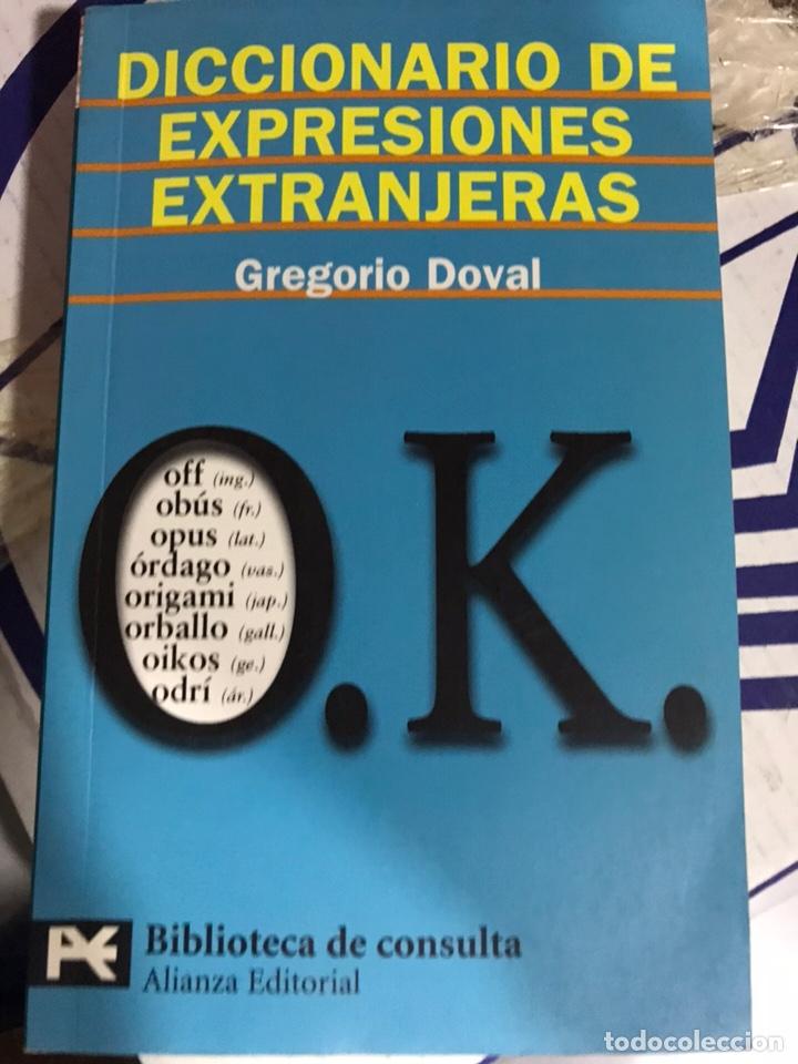 DICCIONARIO DE EXPRESIONES EXTRANJERAS - GREGORIO DOVAL. ALIANZA, 2004 (Libros Nuevos - Educación - Aprendizaje)