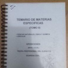Libros: 27454 - TEMARIO DE MATEMATICAS ESPECIFICAS TOMO III - OPOSICIONES (NIVEL E.G.B.). Lote 180994721