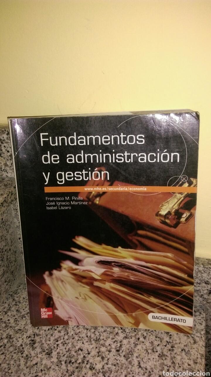 FUNDAMENTOS DE ADMINISTRACIÓN Y GESTIÓN BACHILLERATO MC GRAW HILL (Libros Nuevos - Educación - Aprendizaje)