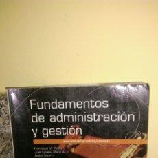 Libros: FUNDAMENTOS DE ADMINISTRACIÓN Y GESTIÓN BACHILLERATO MC GRAW HILL. Lote 181982241
