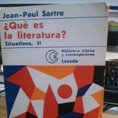 Libros: ¿QUÉ ES LA LITERATURA?, SARTRE.. Lote 182401121
