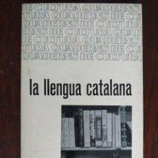 Libros: LA LLENGUA CATALANA DE ALBERT JANE L´INSTRUMENT MES EFICAÇ POSSIBLE AL SERVEI DE LA CULTURA POPULAR. Lote 183590943