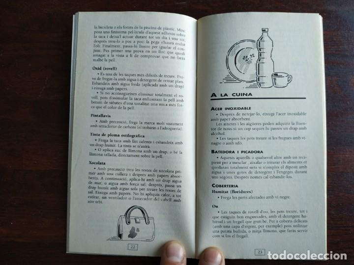 Libros: Petits grans trucs per treure totes les taques, quadern nº 11 de la col·lecció El mes sa pràctic i n - Foto 6 - 186254078