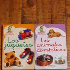 Livres: 4 LIBROS -MOLI ENSEÑA - LOS ANIMALES DOMÉSTICOS-LOS JUGUETES-LA COMIDA-LA CASA. Lote 186239525