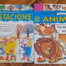 Libros: PANINI -2 LLIBRES- LES ESTACIONS - ANIMALS. Lote 187309215