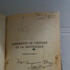 Libros: 31447 - ELEMENTOS DE CIENCIAS DE LA NATURALEZA - 2º CURSO - POR RAFAEL YBARRA MENDEZ - AÑO 1952. Lote 191758338