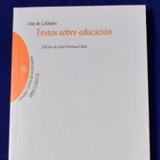 Libros: TEXTOS SOBRE EDUCACIÓN. JOSÉ DE CALASANZ. Lote 195177611