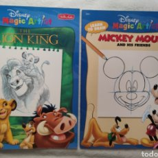 Libros: 2 MAGIC ARTIST, THE LION KING, MICKEY MOUSE. DISNEY. Lote 196880681