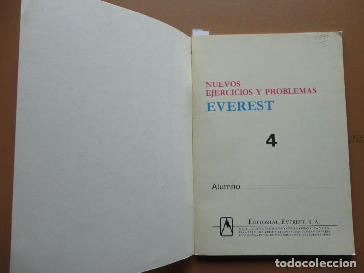 Libros: NUEVOS EJERCICIOS Y PROBLEMAS Everest nº-4 1984 - Foto 2 - 198904777