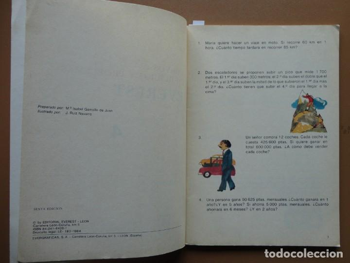 Libros: NUEVOS EJERCICIOS Y PROBLEMAS Everest nº-4 1984 - Foto 3 - 198904777