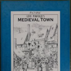 Libros: THE BOOK COLOURING MEDIEVAL TOWN. Lote 202521530