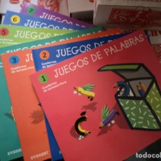 Libros: JUEGOS DE PALABRAS, CUADERNOS DE LECTOESCRITURA - 7 TOMOS. Lote 204733687