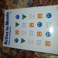 Libros: ACTIVA TU MENTE, JUEGOS DE INTELIGENCIA. LOTE 8 LIBROS: 3,4,5,6,9,10,11,12.. Lote 205749987