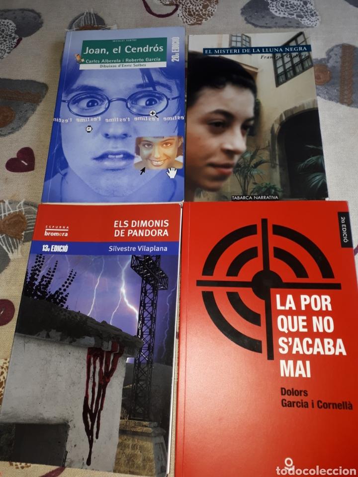 LOTE. 4 LIBROS VALENCIANO.JOAN EL CEDROS.LLUNA NERA.DIMONIS DE PANDORA.LA POR NO S'ACABA MAI. (Libros Nuevos - Educación - Aprendizaje)