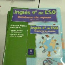 Libros: CUADERNO DE REPASO 4. DE LA ESO. Lote 207878092