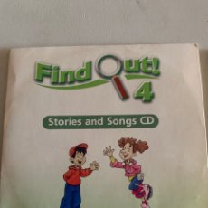 Libros: FIND OUT 4 STORIES AND SONGS CD. Lote 210642787